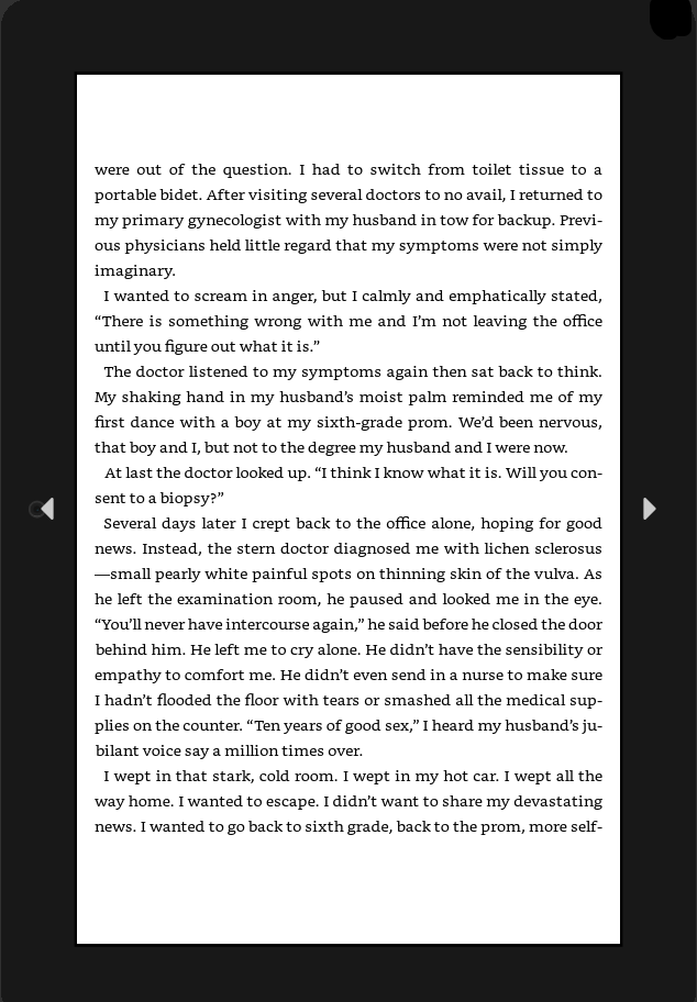 Screenshot of one page of ebook on a tablet